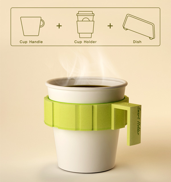 Smart Holder à ⠜ Coffee Cup Sleeve By Jongwoo Choi