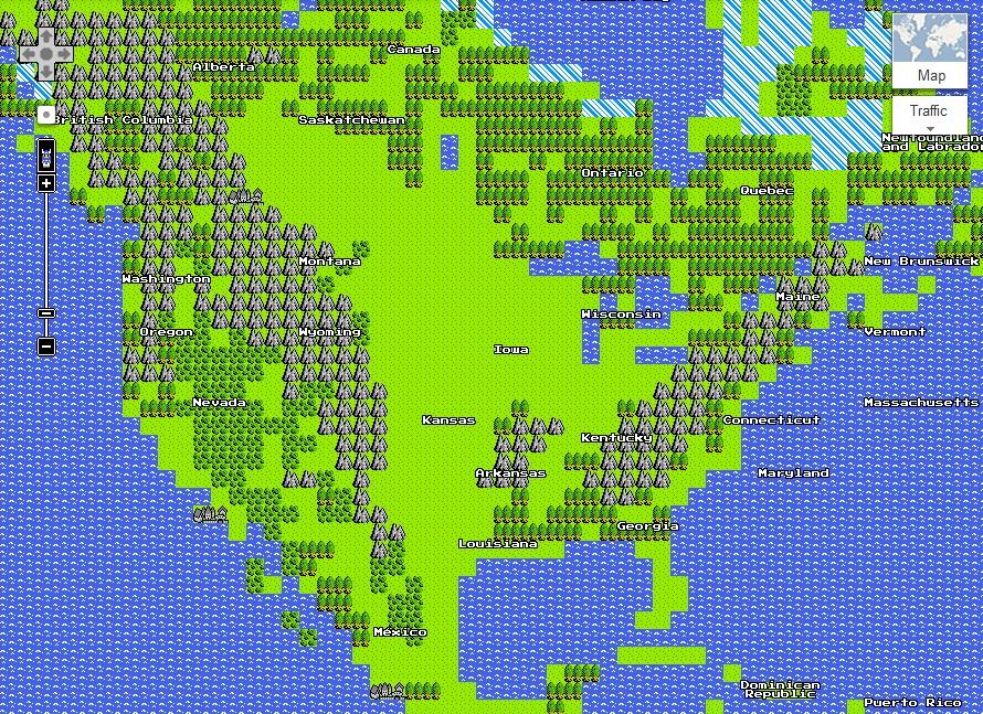 google-maps-8-bit