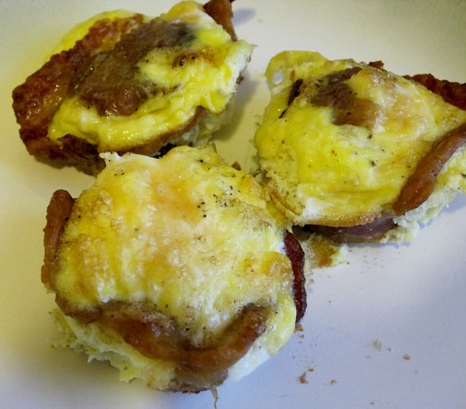 Bacon Egg Cupcakes - The CaffiNation